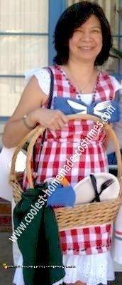Homemade Picnic Basket Costume