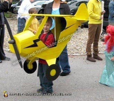 Homemade Pilot and Airplane Halloween Costume