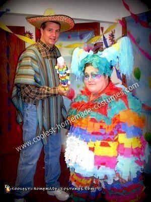 Homemade Pinata Couple Costume