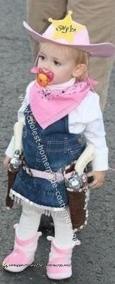 Homemade Pink Cowgirl Halloween Costume