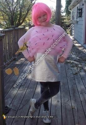 Homemade Pink Cupcake with Sprinkles Costume