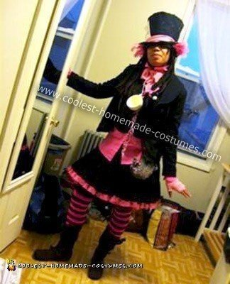Homemade Pink Mad Hatter Halloween Costume
