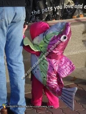Homemade Pink Salmon Costume