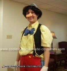 Homemade Pinocchio Halloween Costume