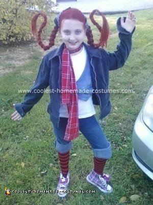 Homemade Pippi Longstockings Costume