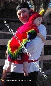 Homemade Pirate and Parrot Halloween Costumes