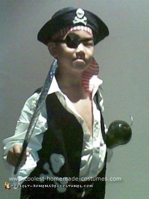 Homemade Pirate Halloween Costume