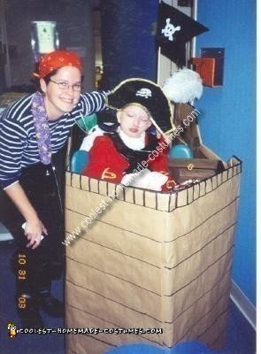 Homemade Pirate in a Ship Wheelchair Costume
