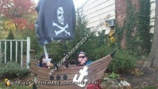 Homemade Pirate Ship Costume