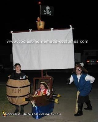 Homemade Pirate Theme Costume