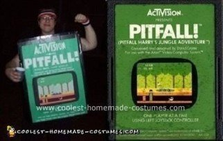 Homemade Pitfall Costume