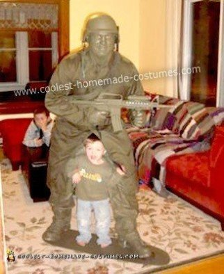Homemade Plastic Army Man Costume