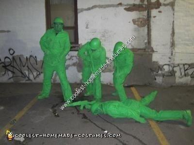 Homemade Plastic Army Men Group Halloween Costume Idea