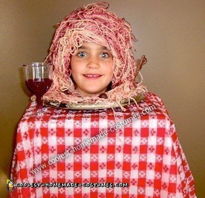 Homemade Plate of Spaghetti Halloween Costume