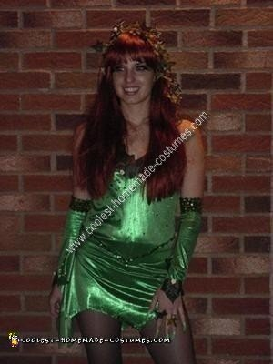 Homemade Poison Ivy Costume Design