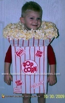 Homemade Popcorn Box Halloween Costume