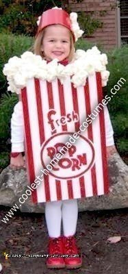 Homemade Popcorn Box Halloween Costume