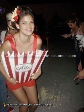 Homemade Popcorn Halloween Costume