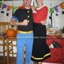 Homemade Popeye and Olive Oyl Costumes