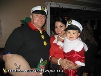 Coolest Homemade Popeye Olive Oyl And Sweet Pea Family