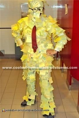 Homemade Post It Man Costume