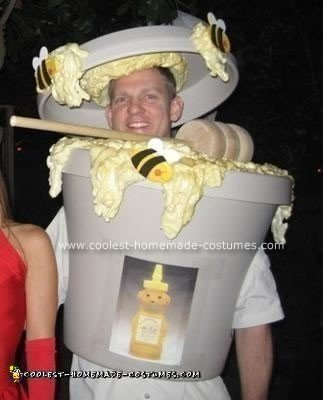 Homemade Pot of Honey Costume