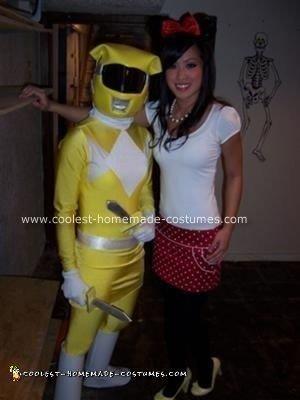 Homemade Power Rangers Halloween Costume