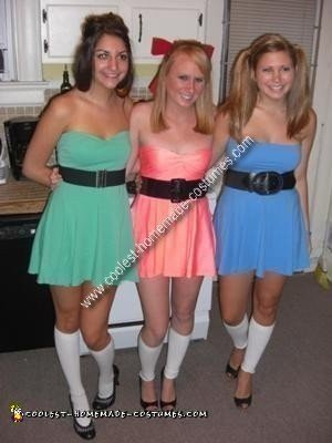 Homemade Powerpuff Girls Group Costume