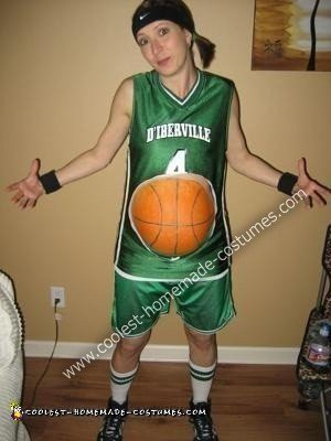 Homemade Pregnant Basketball Player Costume