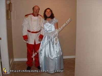 Homemade Prince and Princess Couple Costume Idea