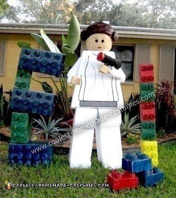 Homemade Princess Leia Lego Costume