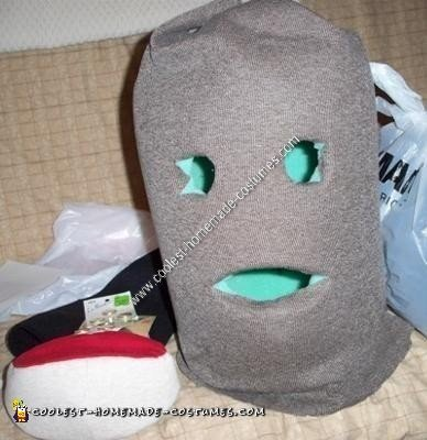 Homemade Princess Leia Sock Monkey Halloween Costume