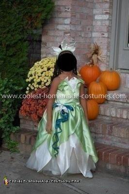 Homemade Princess Tiana Costume