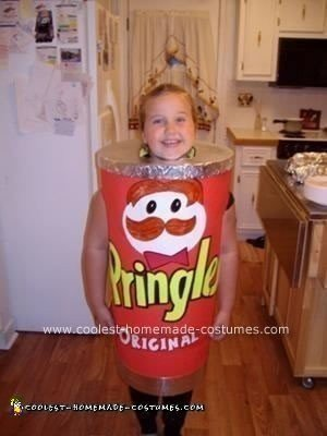 Coolest Homemade Pringles Can Costume