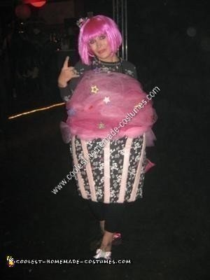 Homemade Punk Rock Cupcake Halloween Costume Idea