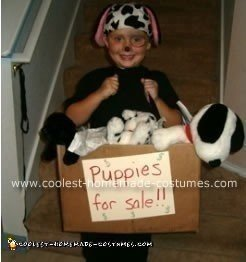 Homemade Puppies for Sale Halloween Costume