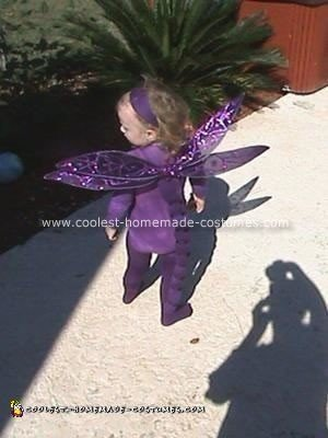 Homemade Purple Dragonfly Costume