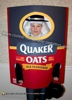 Homemade Quaker Oats Costume