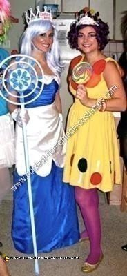 Homemade Queen Frostine and Princess Lolly from Candyland Couple Costumes