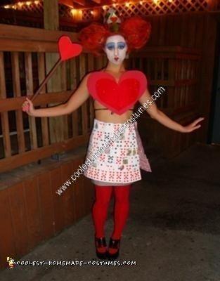 Homemade Queen of Hearts Halloween Costume Idea