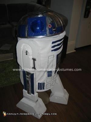 Homemade R2D2 Astromech Droid Costume