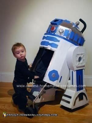 Homemade R2D2 Stroller Costume