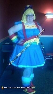 Homemade Rainbow Brite Adult Halloween Costume