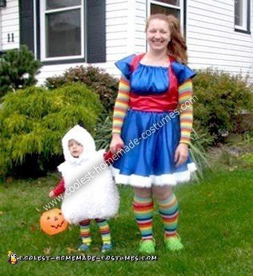 Homemade Rainbow Brite and Twink Costumes