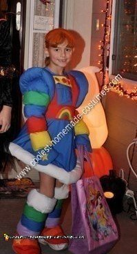 Homemade Rainbow Brite Halloween Costume