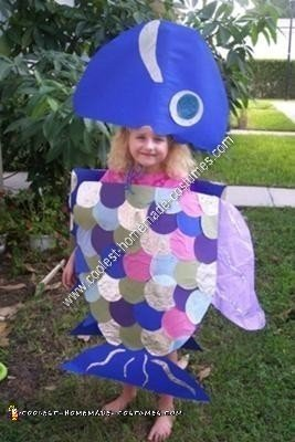 Sexy rainbow fish costume