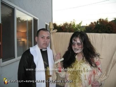 Homemade Reagan MacNeil and Priest Couple Costume