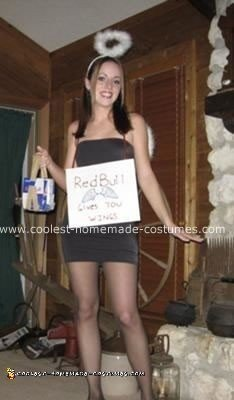 Homemade Red Bull Angel Costume