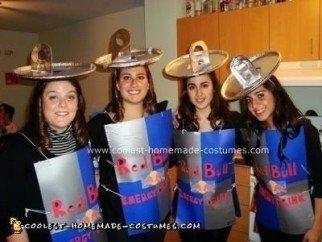 Homemade Red Bull Group Costume
