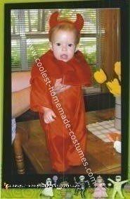 Homemade Red Devil Baby Costume